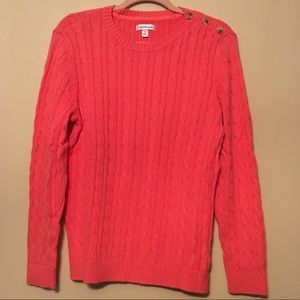 Croft & Barrow S pink sweater